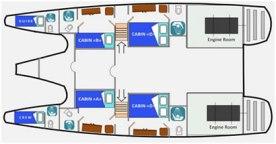 Solitario-George-Catamaran-Tourist-Superior-Class-Lower-Deck